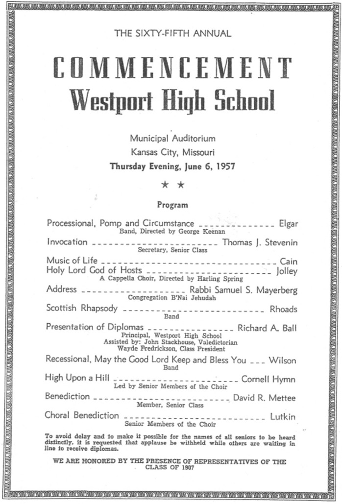 Westport Class Of  Graduation Program